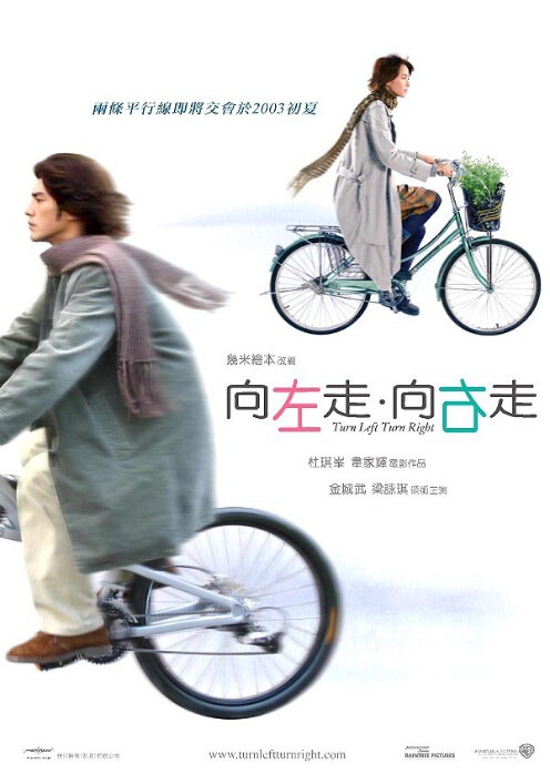 Turn Left, Turn Right Movie Poster, 2003, Actress: Gigi Leung Wing-Kei, Hong Kong Film