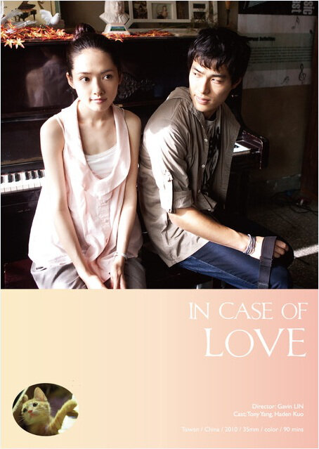 In Case of Love Movie Poster, 2010, Actor: Tony Yang Yu-Ning, Taiwanese Movie