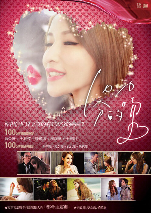100% Kiss Movie Poster, 2012 Chinese Drama Movie