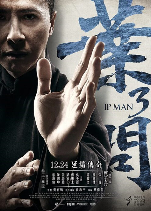Ip Man 3 Movie Poster, 2015 Chinese film, Donnie Yen, Chinese Actor