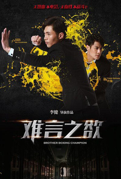 Brother Boxing Champion Movie Poster, 2016 Chinese film