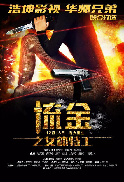 Revenge of Gold Movie Poster, 2016 Chinese film