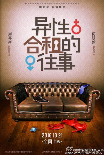 Roommates in Love Movie Poster, 2016 Chinese film