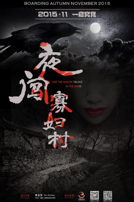 Visit the Widow Village in the Night Movie Poster, 2016 Chinese film