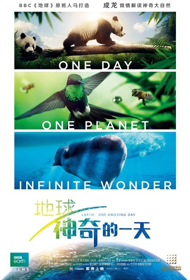 Earth: One Amazing Day Movie Poster, 2017 Chinese film