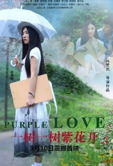 Purple Love Movie Poster, 2017 Chinese film