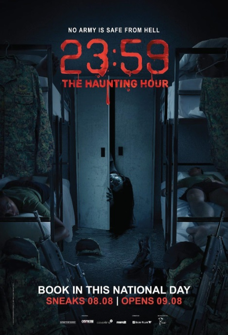 23:59: The Haunting Hour Movie Poster, 猛男军中鬼故事2 2018 Singapore film