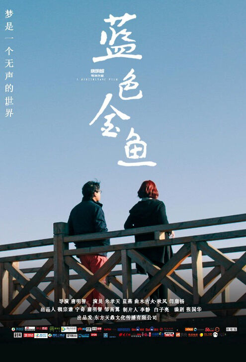 Blue Goldfish Movie Poster, 蓝色金鱼 2018 Chinese film