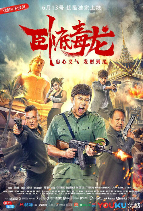 Undercover Drug Dragon Movie Poster, 卧底毒龙 2018 Chinese film