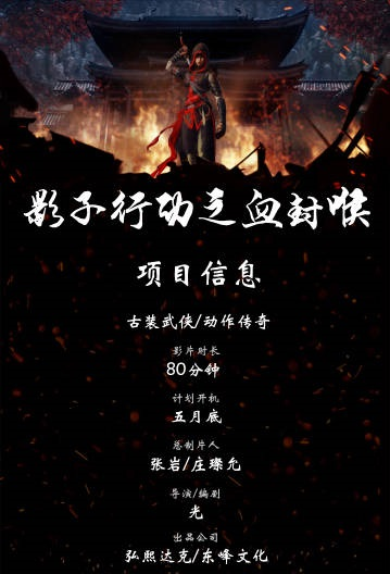 Shadow Action Movie Poster, 影子行动之血封喉 2020 Chinese film
