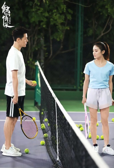 Tennis Movie Poster, 触网情深 2020 Chinese film