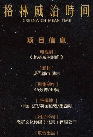 Greenwich Mean Time Poster, 格林威治时间 2020 Chinese TV drama series