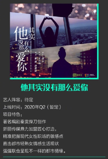 He Doesn't Really Love You So Much Poster, 他其实没有那么爱你 2020 Chinese TV drama series