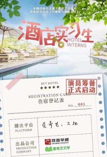 Hotel Interns Poster, 酒店实习生 2020 Chinese TV drama series